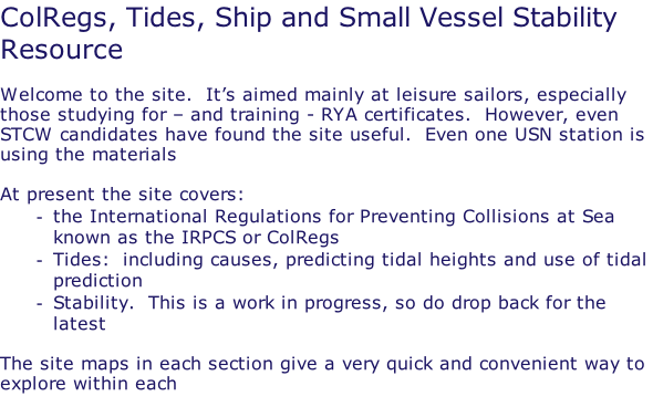 Sailskills Covering ColRegs, Tides
